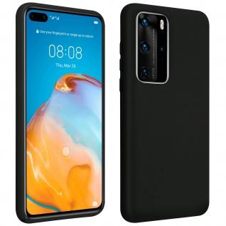 Halbsteife Silikon Handyhülle Huawei P40 Pro, Soft Touch - Schwarz