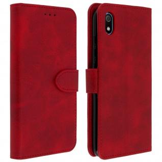 Buffalo Kunstlederetui Xiaomi Redmi 7A, Standfunktion & Kartenfächer - Rot