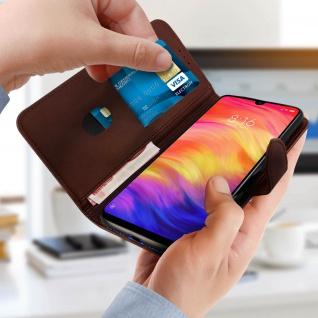 Buffalo Kunstlederetui Xiaomi Redmi 7, Standfunktion & Kartenfächer - Braun - Vorschau 4