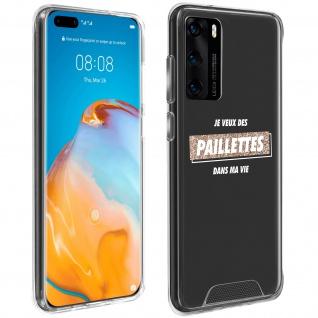 "Handyhülle für Huawei P40, Made in France ? "" Paillettes"" Design"