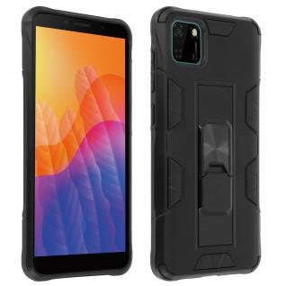 Huawei Y5p Handyhülle mit Ständer, Defender Series ? Schwarz