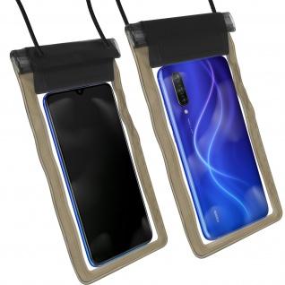 Wasserdichte Handyhülle für Smartphones, mit Trageschlaufe - Schwarz