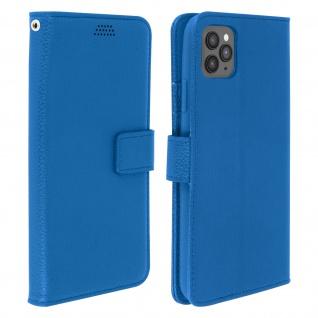 Apple iPhone 11 Pro Max Flip-Cover mit Kartenfächern & Standfunktion - Blau
