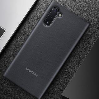 Original Samsung LED-View Cover + Kartenfach Samsung Galaxy Note 10 - Schwarz - Vorschau 5