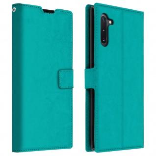 Flip Cover Stand Case Brieftasche & Standfunktion für Galaxy Note 10 - Blaugrün