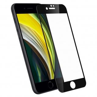 Displayschutzfolie aus Hartglas für Apple iPhone 7/ iPhone 8 ? Rand Schwarz