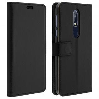 Nokia 7.1 Flip-Cover mit Kartenfächern & Standfunktion - Schwarz