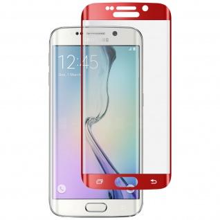 Displayschutzfolie Hartglas abgerundete Ecken für Galaxy S6 Edge - Rot