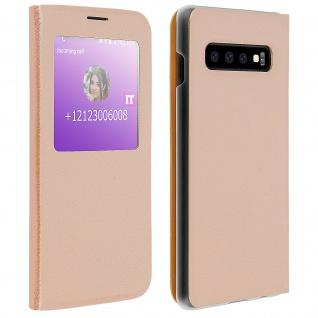 S-View Flip Cover mit Sichtfenster & Kartenfach für Samsung Galaxy S10 - Gold