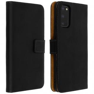 Samsung Galaxy S20 Cover aus Echtleder mit Standfunktion- Schwarz