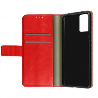 LG K53 Kunstlederhülle mit Kartenfächern & Standfunktion ? Rot