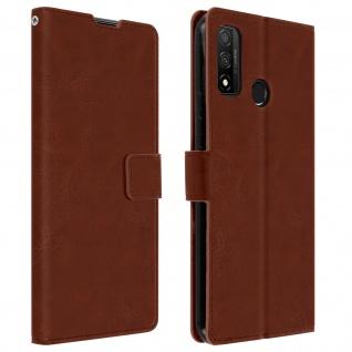 Flip Stand Case Brieftasche & Standfunktion für Huawei P smart 2020 ? Braun