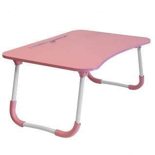 Betttisch für Laptops / Smartphones /Tablets, Höhe 26cm klappbare Füße â€? Rosa