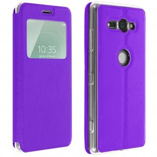 Sony Xperia XZ2 Compact Flip Cover Sichtfenster & Kartenfach � Violett