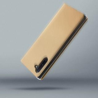 Flip Book Cover, Klappetui aus Kunstleder für Samsung Galaxy Note 10 - Gold - Vorschau 4