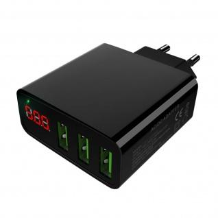 McDodo - 3A Wand Ladegerät mit 3 USB-Ports & LED - Schwarz