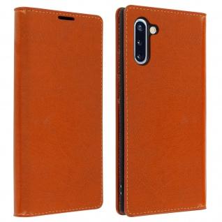 Business Leder Cover, Schutzhülle mit Geldbörse Samsung Galaxy Note 10 â€? Kupfer
