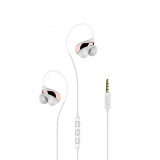 Baseus 3.5 Klinkenstecker in-ear Kopfhörer mit Fernbedienung & Mikrofon - Weiß