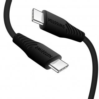 USB-C / USB-C Schnellladekabel, 3A Ladekabel by Swissten ? Schwarz - Vorschau 2