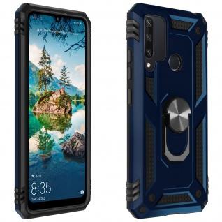 Hybrid Handyhülle mit Ring Halterung für Huawei Y6p ? Dunkelblau