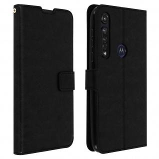 Flip Stand Case Brieftasche & Standfunktion für Moto G8 Plus - Schwarz