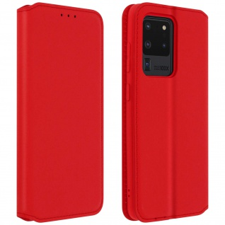 Kunstleder Cover Classic Edition Samsung Galaxy S20 Ultra - Rot