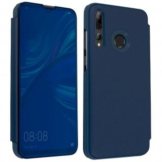 Huawei P Smart plus 2019 Flip Cover mit Spiegeleffekt & Standfunktion - Blau