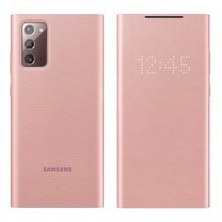 Original Samsung LED-View Cover + Kartenfach Samsung Galaxy Note 20 � Rosegold