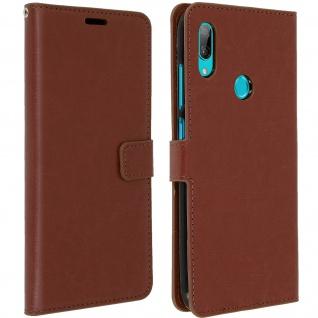 Flip Stand Cover Brieftasche & Standfunktion für Huawei Y7 2019 - Braun