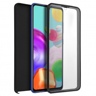 Schutzhülle für Samsung Galaxy A41, Vorder- + Rückseite ? Schwarz