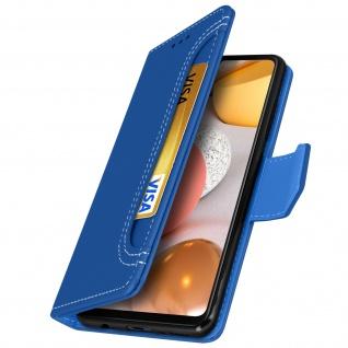 Samsung Galaxy A42 5G Klapphülle mit Portemonnaie - Blau - Vorschau 2