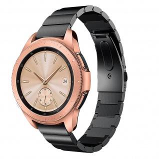 Premium Armband aus Edelstahl für Samsung Galaxy Watch 42 mm ? Schwarz