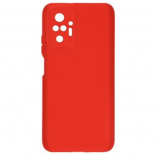 Halbsteife Silikon Handyhülle für Xiaomi Redmi Note 10 Pro, Soft Touch ? Rot
