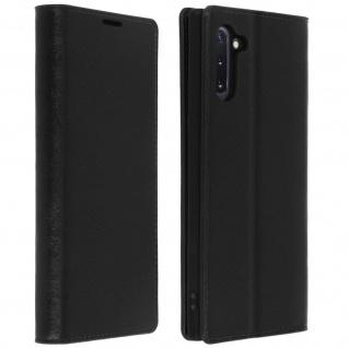 Business Leder Cover, Schutzhülle mit Geldbörse Galaxy Note 10 - Schwarz