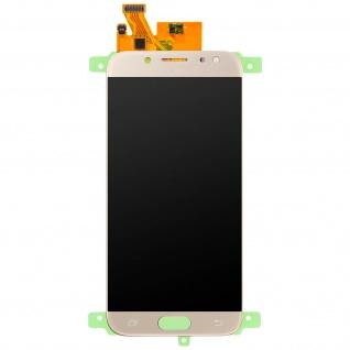 Ersatzdisplay mit Samsung Galaxy J7 2017 kompatibel, Scheibe vormontiert - Gold