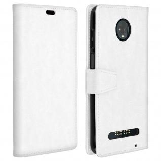 Flip Stand Cover Brieftasche & Standfunktion für Motorola Moto Z3 Play - Weiß