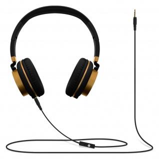 Audio Headset mit 3.5mm Klinkenstecker, GJ18 Kopfhörer - Schwarz / Gold