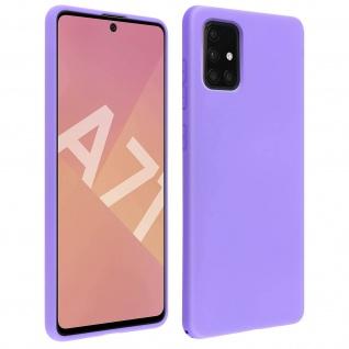 Halbsteife Silikon Handyhülle Samsung Galaxy A71, Soft Touch - Violett