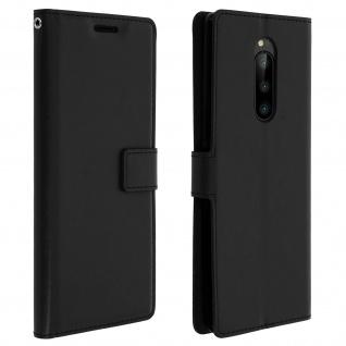 Flip Stand Cover Brieftasche & Standfunktion für Sony Xperia 1 - Schwarz