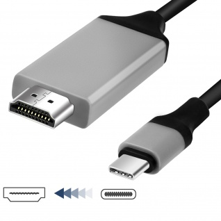 USB-C auf HDMI- Kabel Samsung Galaxy S8 - Adapter 2m - Vorschau 1