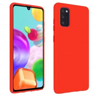 Halbsteife Silikon Handyhülle Samsung Galaxy A41, Soft Touch - Rot
