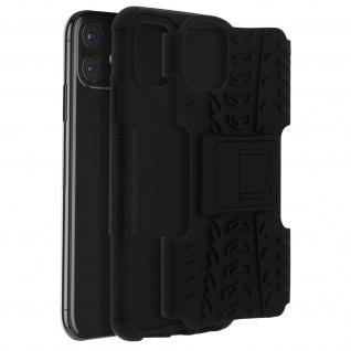 Stoßfeste Schutzhülle + Standfunktion für Apple iPhone 11 - Schwarz