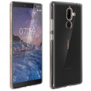 Nokia 7 Plus Schutz-Set - transparente Hülle + Glas-Displayschutzfolie