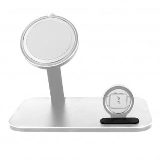 2-in-1 Magsafe Halterung Apple Watch, 2-in-1 Aluminium Dockingstation � Silber