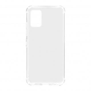 Flexible Samsung Galaxy A02s Silikon Bumper Hülle, stoßfest - Transparent