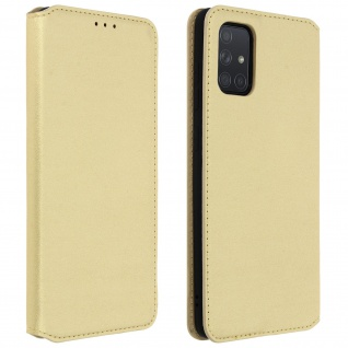 Kunstleder Cover Classic Edition Samsung Galaxy A71 - Gold