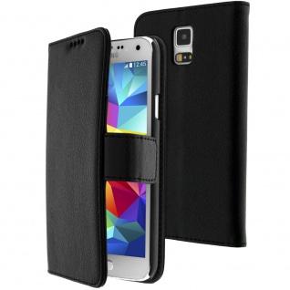 Flip-Schutzhülle für Samsung Galaxy S5/ Galaxy S5 Neo - Schwarz