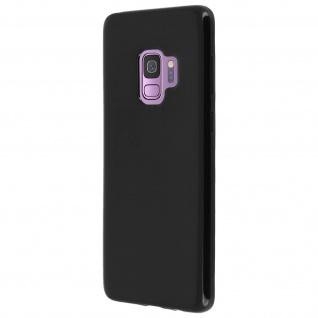 Flexible kratzfeste Schutzhülle aus Silikon für Samsung Galaxy S9 - Schwarz - Vorschau 3