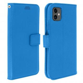 Apple iPhone 11 Flip-Cover mit Kartenfächern & Standfunktion - Blau