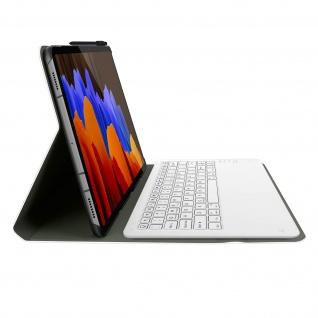 Klapphülle mit Bluetooth Tastatur für Galaxy Tab S7 Plus 12.4 ? Rosegold